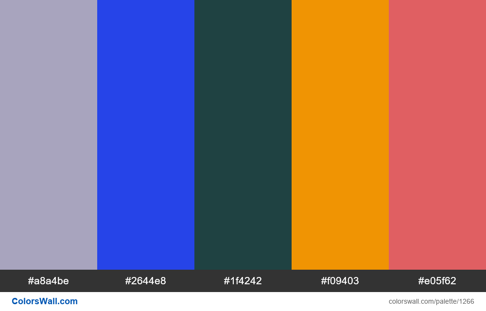 #colorswall random #723 colors palette - #1266