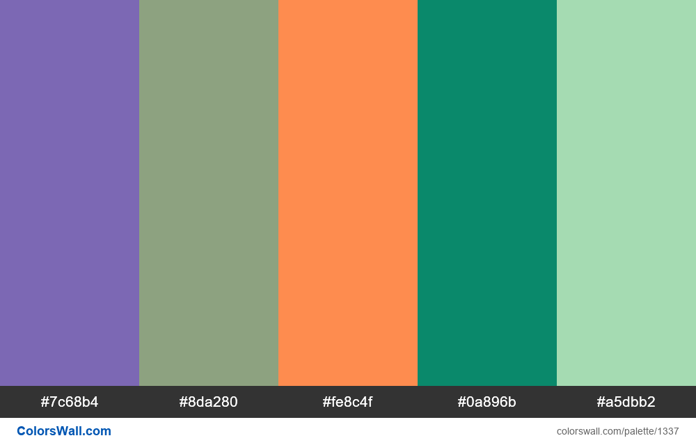 #colorswall random #727 colors palette - #1337