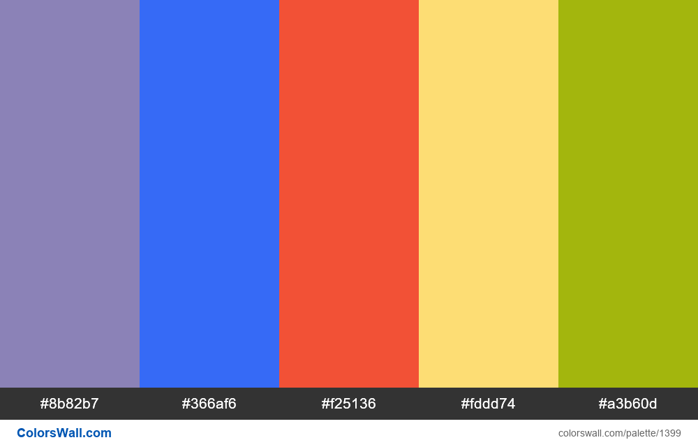 #colorswall random #741 colors palette - #1399