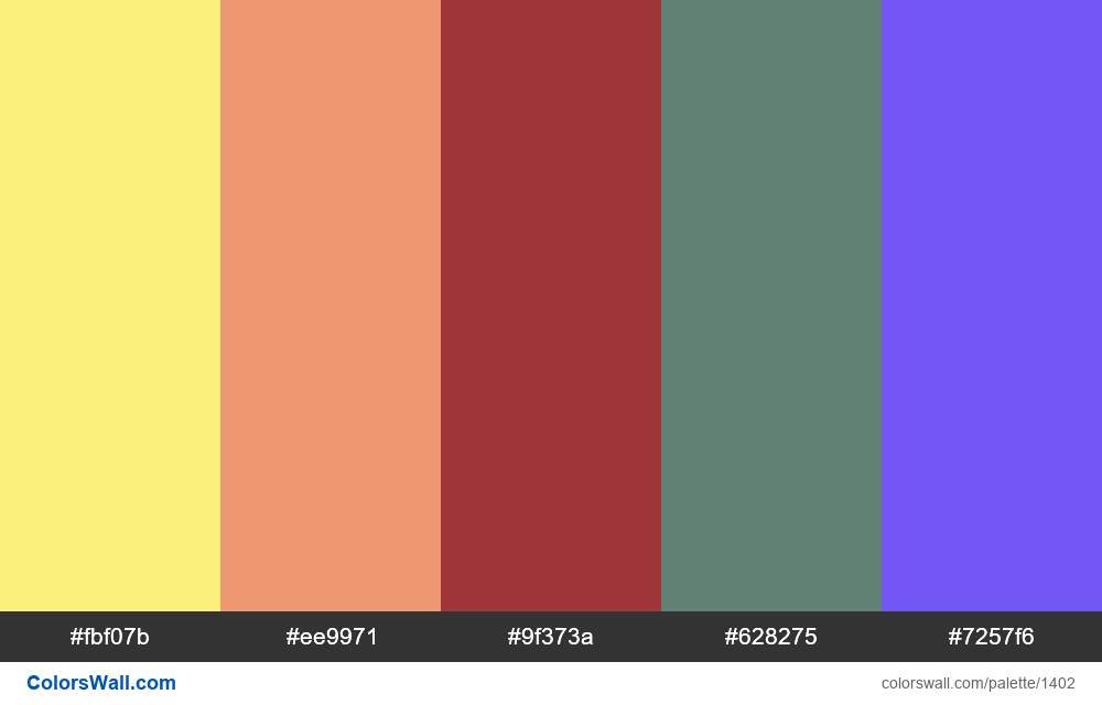 #colorswall random #744 colors palette - #1402