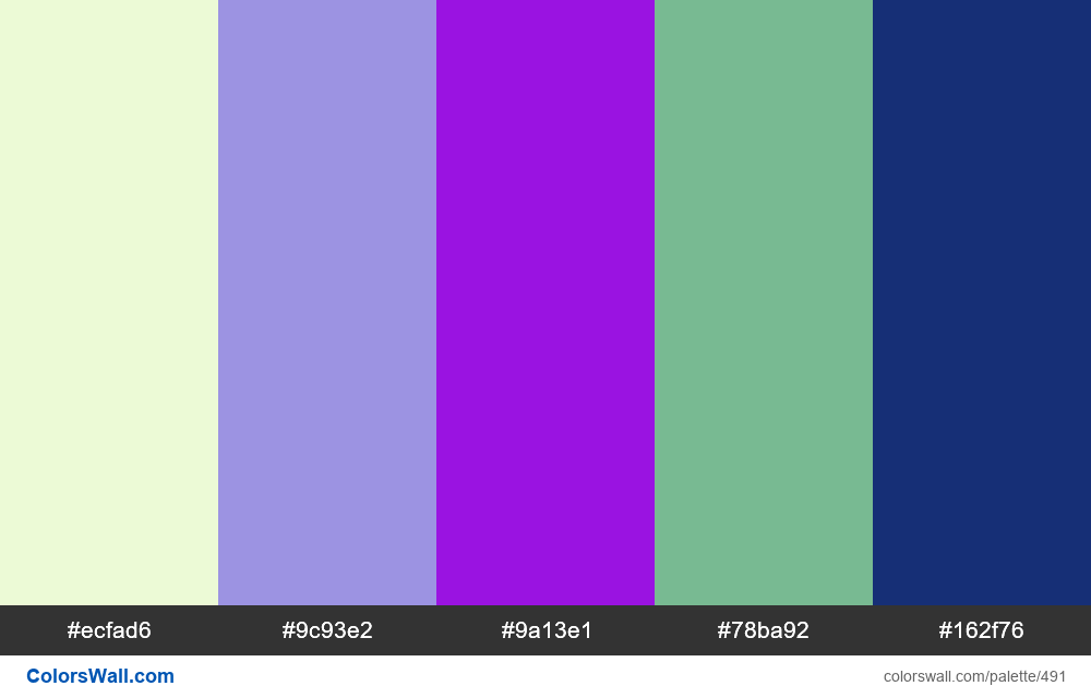 #colorswall random #77 colors palette - #491
