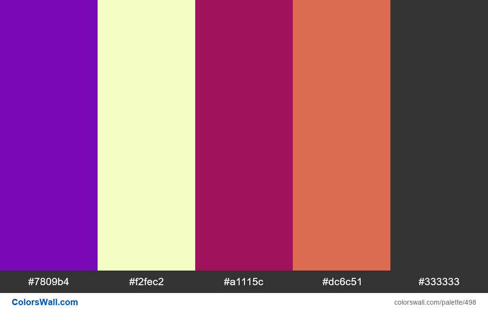 #colorswall random #80 colors palette - #498