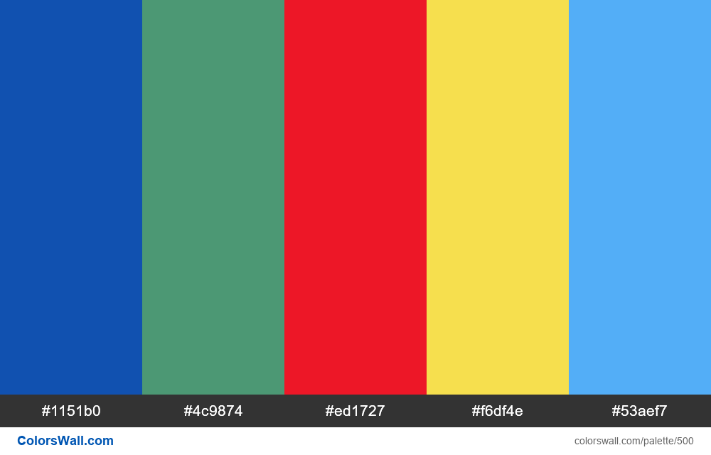 #colorswall random #82 colors palette - #500