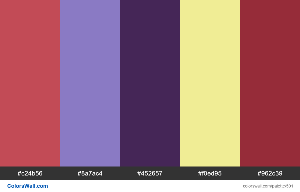 #colorswall random #83 colors palette - #501