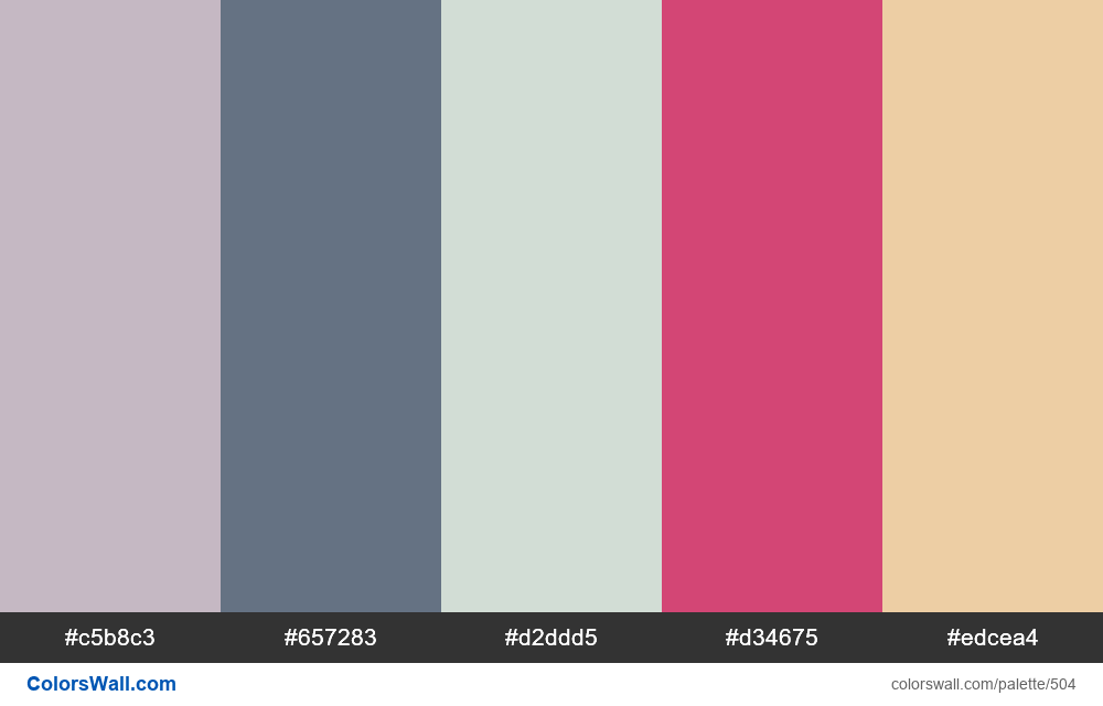 #colorswall random #86 colors palette - #504
