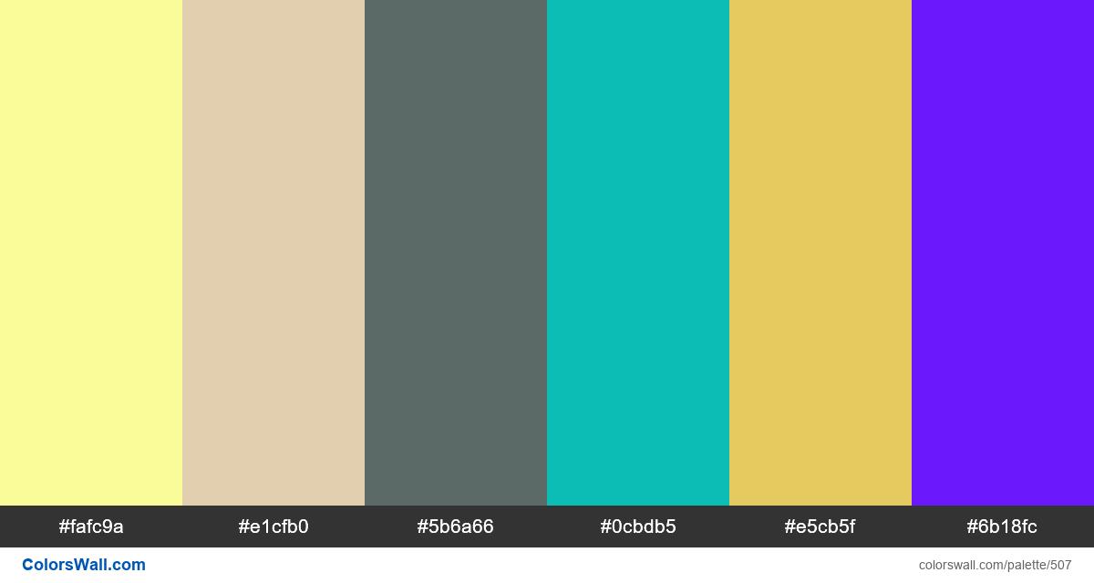 #colorswall random #87 colors palette - #507