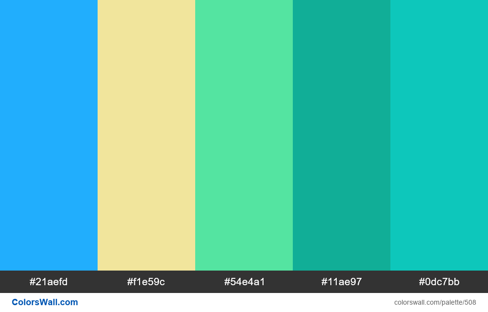 #colorswall random #88 colors palette - #508