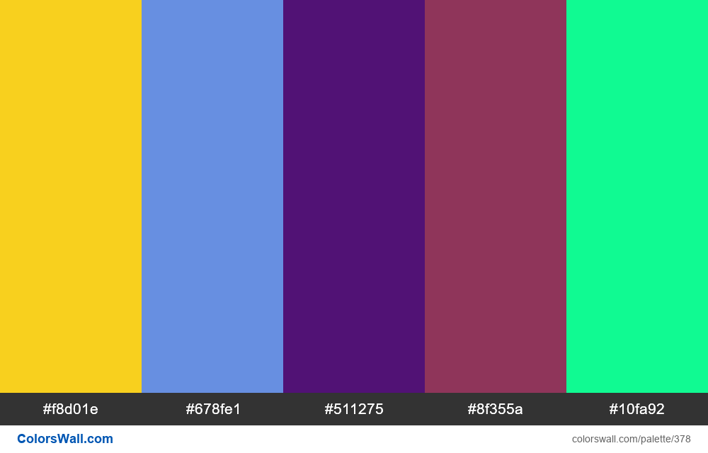 #colorswall random #9 colors palette - #378