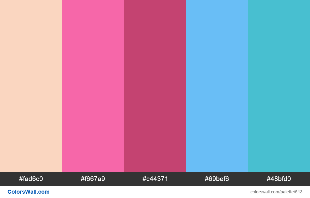 #colorswall random #93 colors palette - #513