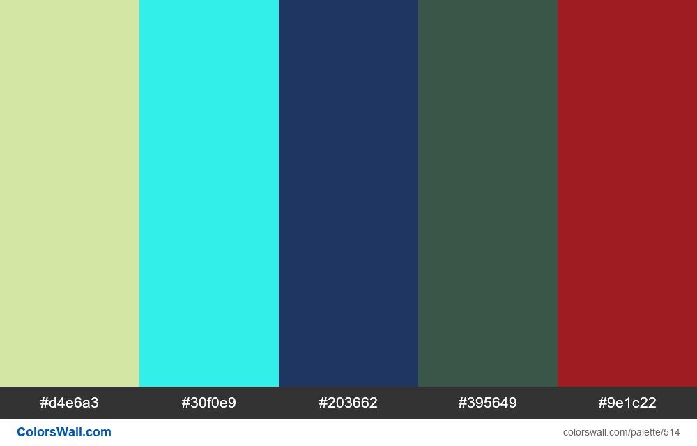 #colorswall random #94 colors palette - #514