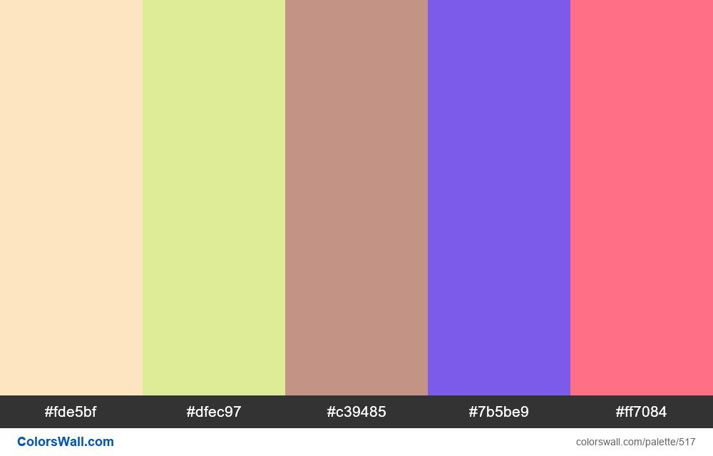 #colorswall random #97 colors palette - #517