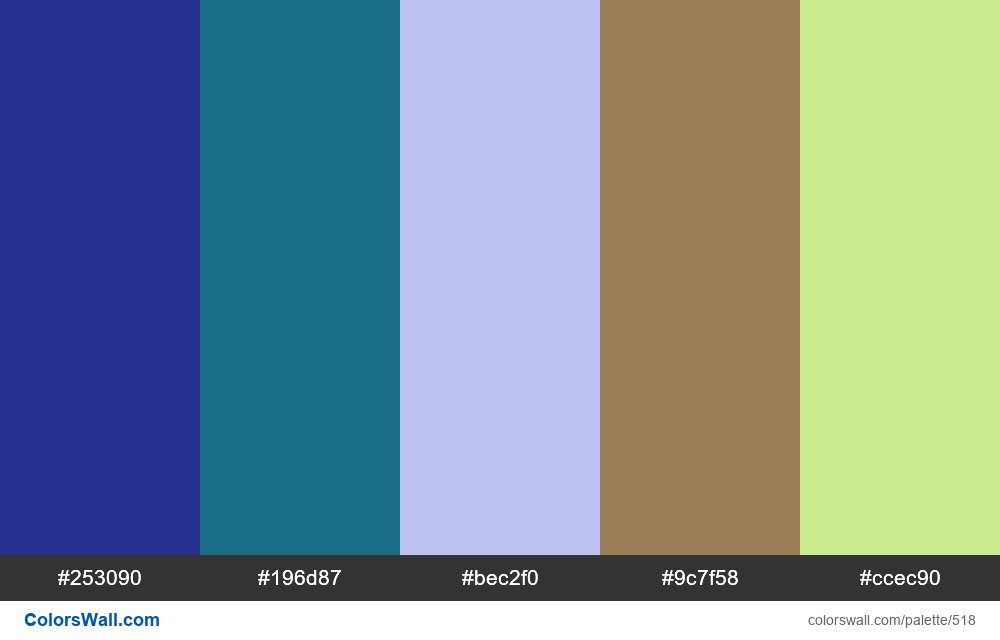 #colorswall random #98 colors palette - #518