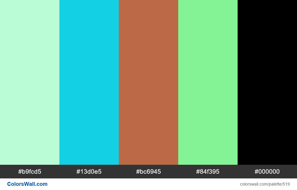 #colorswall random #99 colors palette - #519