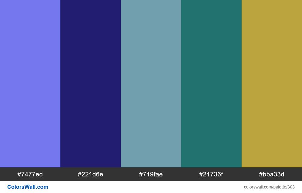 #colorswall random colors palette - #363