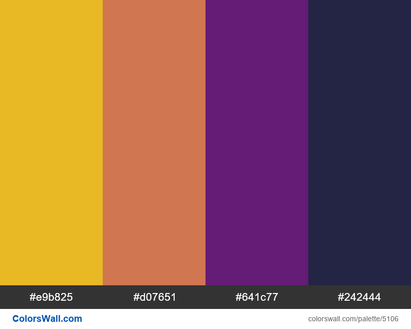 Css cute character colors palette - #5106
