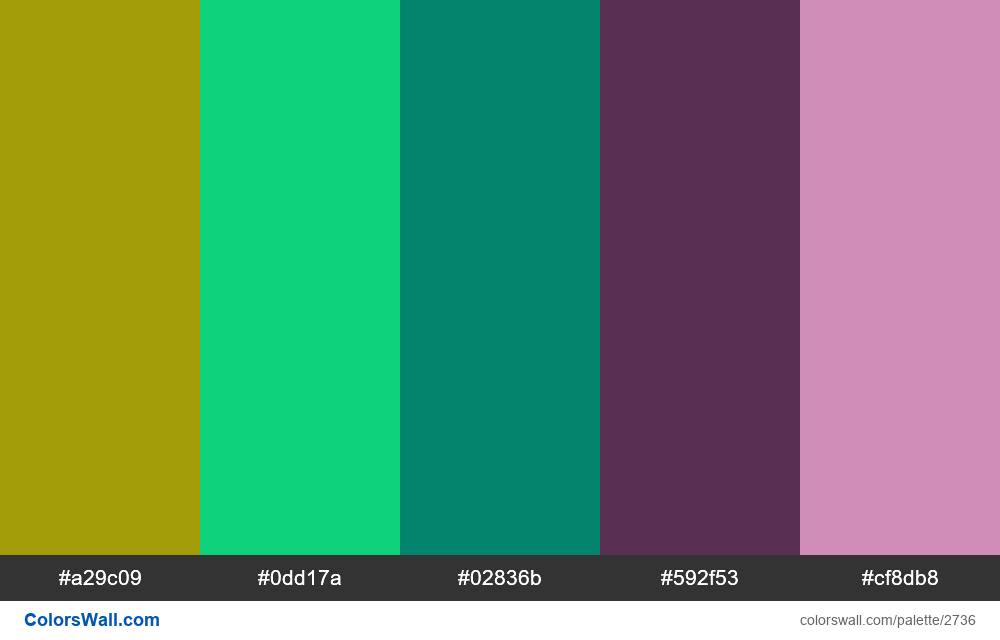 Daily colors palette #1 - #2736