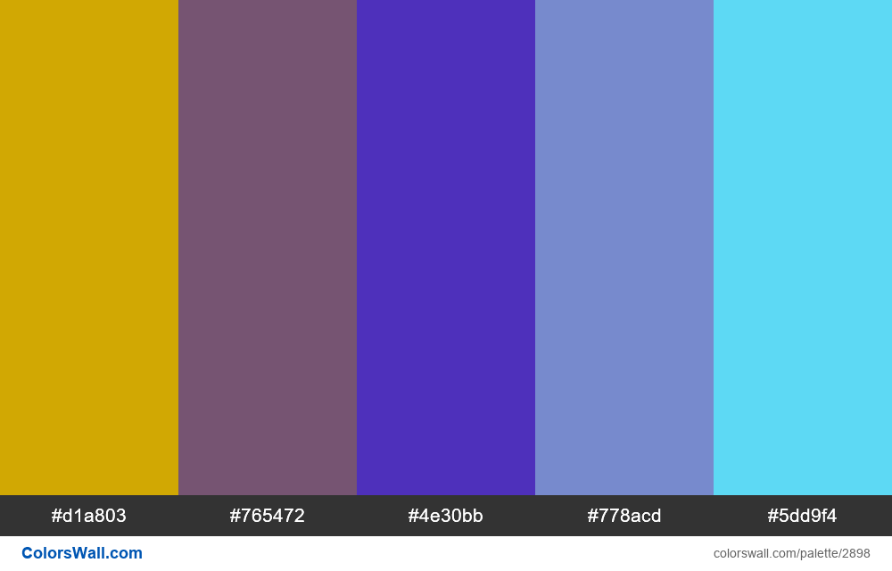 Daily colors palette #103 - #2898