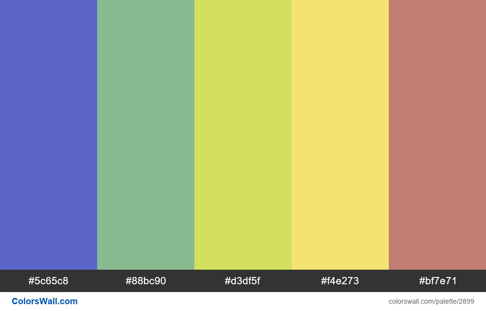 Daily colors palette #104 - #2899
