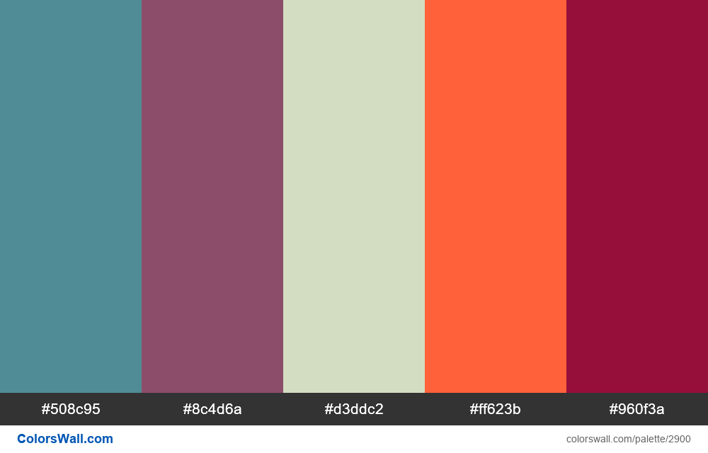 Daily colors palette #105 - #2900