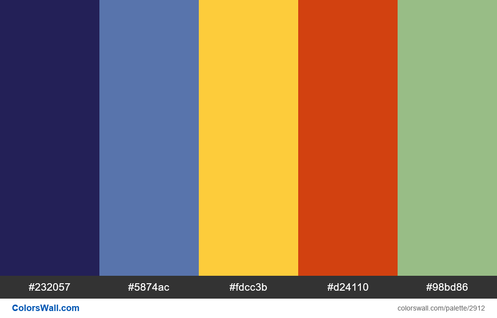 Daily colors palette #108 - #2912