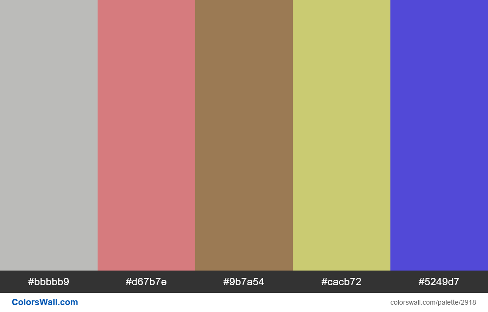 Daily colors palette #114 - #2918