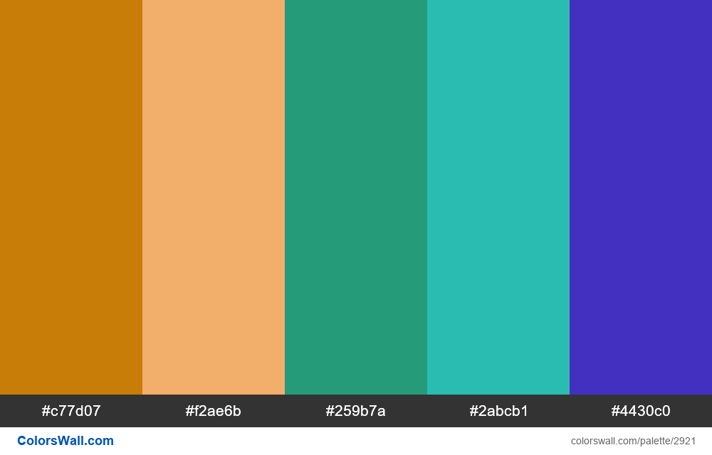 Daily colors palette #117 - #2921