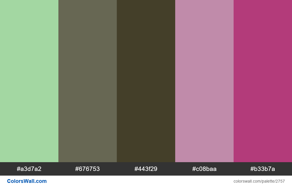 Daily colors palette #12 - #2757