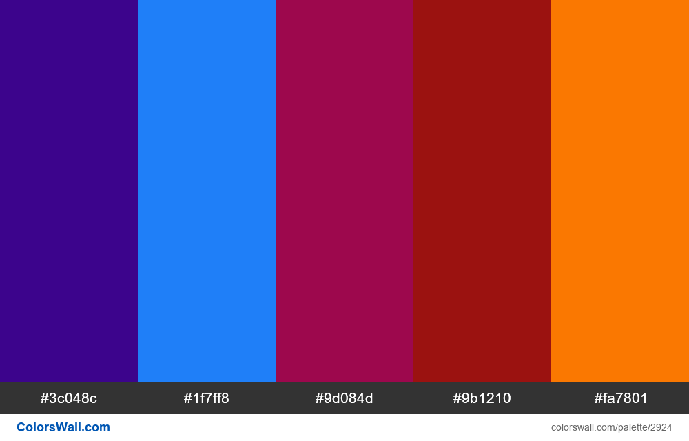 Daily colors palette #120 - #2924