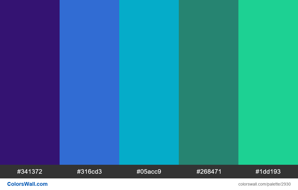 Daily colors palette #125 - #2930