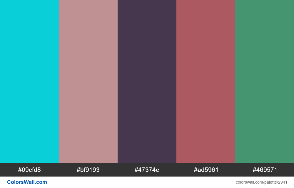 Daily colors palette #133 - #2941