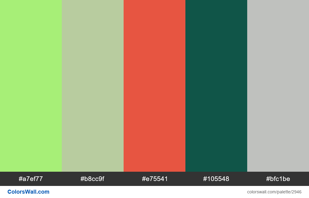 Daily colors palette #137 - #2946