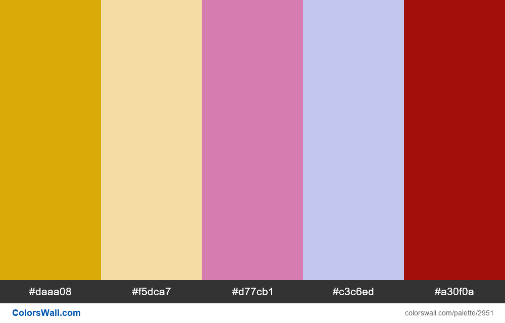 Daily colors palette #139 - #2951