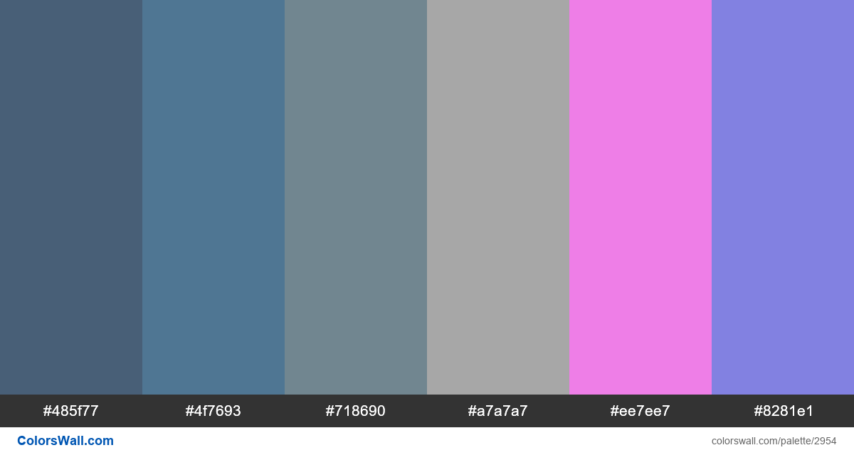 Daily colors palette #142 - #2954