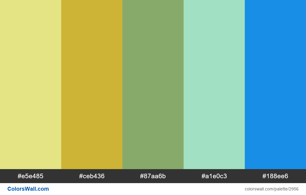 Daily colors palette #144 - #2956