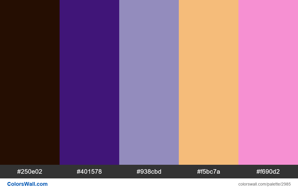 Daily colors palette #150 - #2985