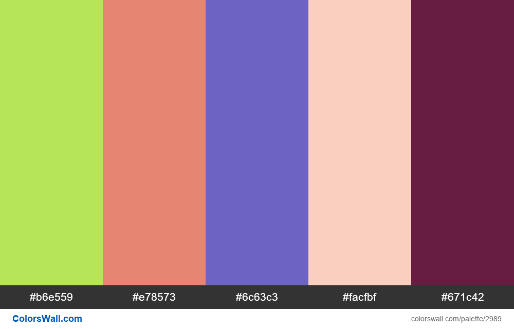 Daily colors palette #152 - #2989