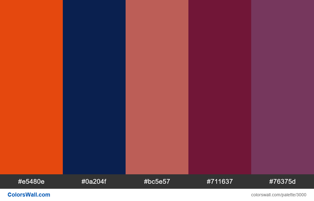 Daily colors palette #157 - #3000