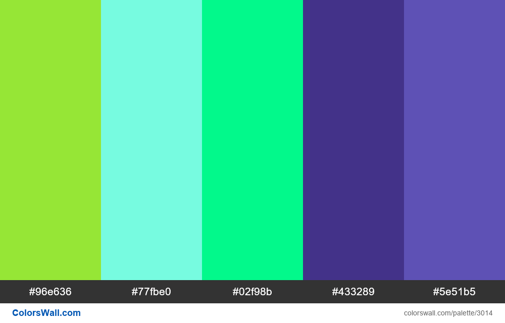 Daily colors palette #167 - #3014