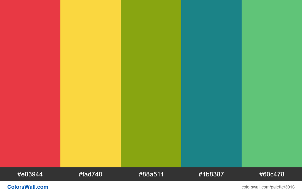 Daily colors palette #169 - #3016
