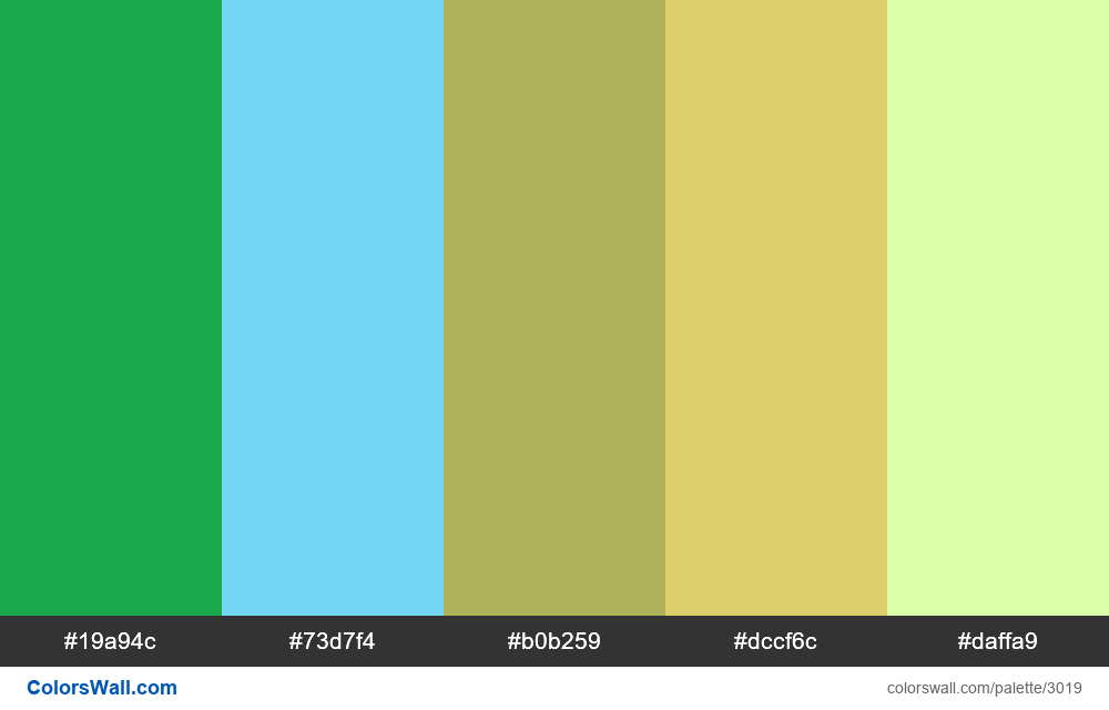Daily colors palette #173 - #3019