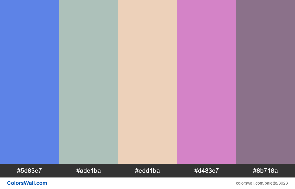 Daily colors palette #177 - #3023
