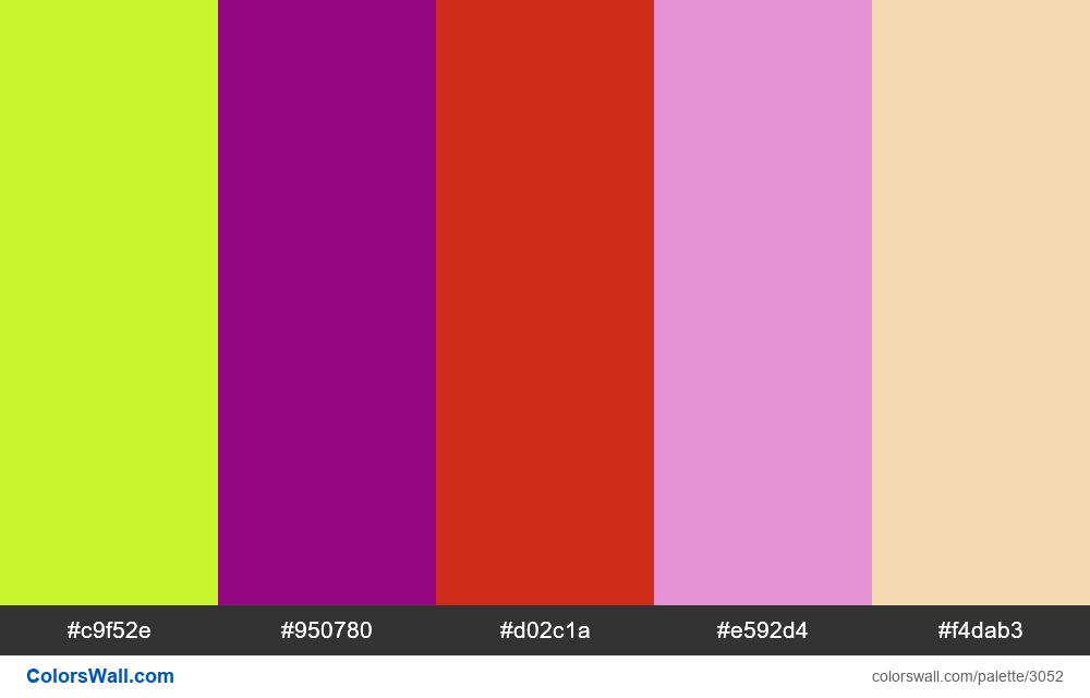 Daily colors palette #182 - #3052