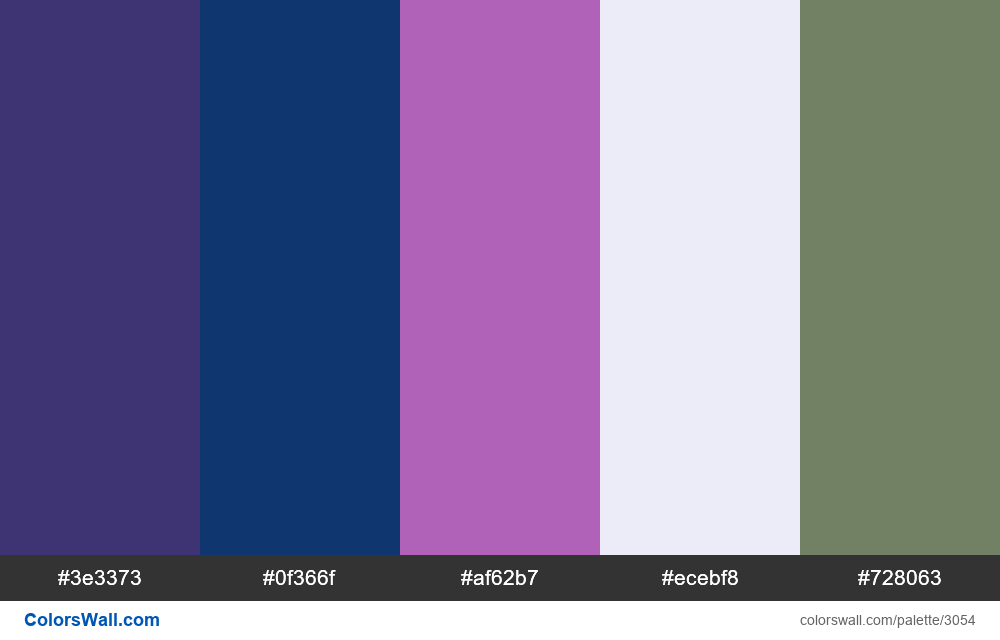 Daily colors palette #184 - #3054