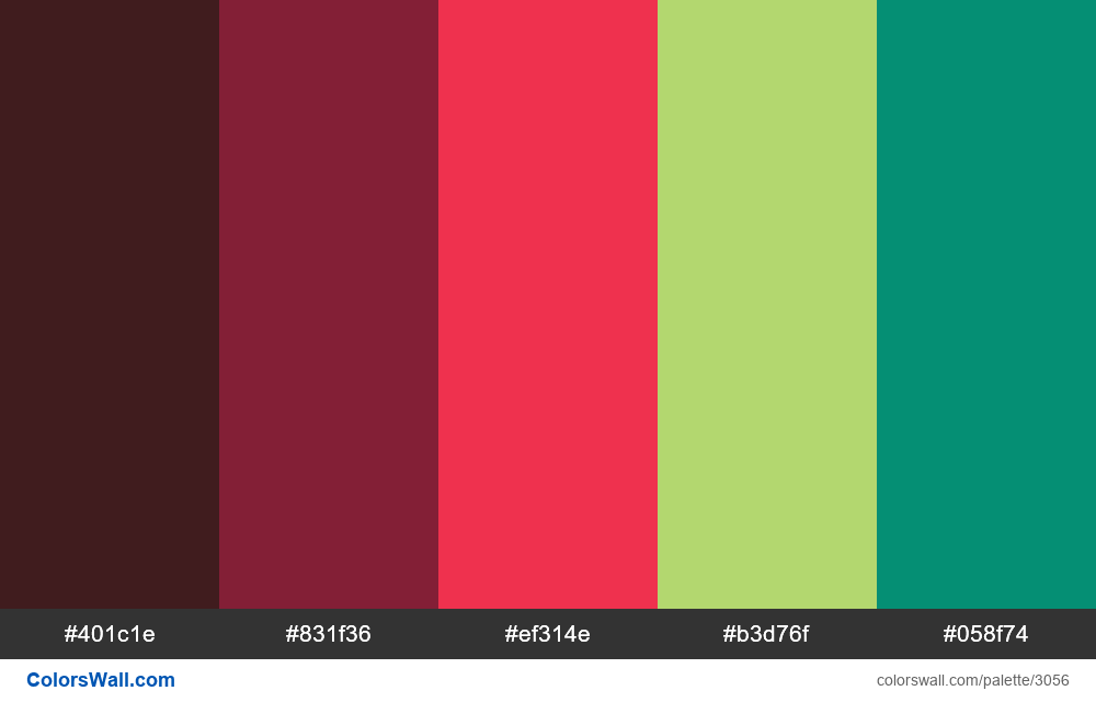 Daily colors palette #186 - #3056