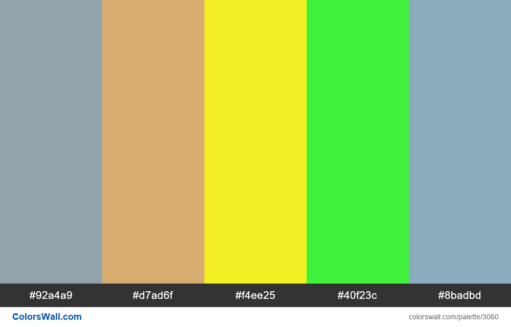 Daily colors palette #190 - #3060