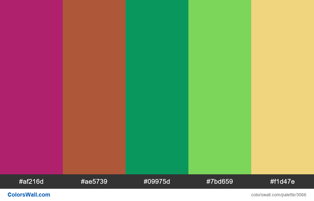 Daily colors palette #195 - #3066