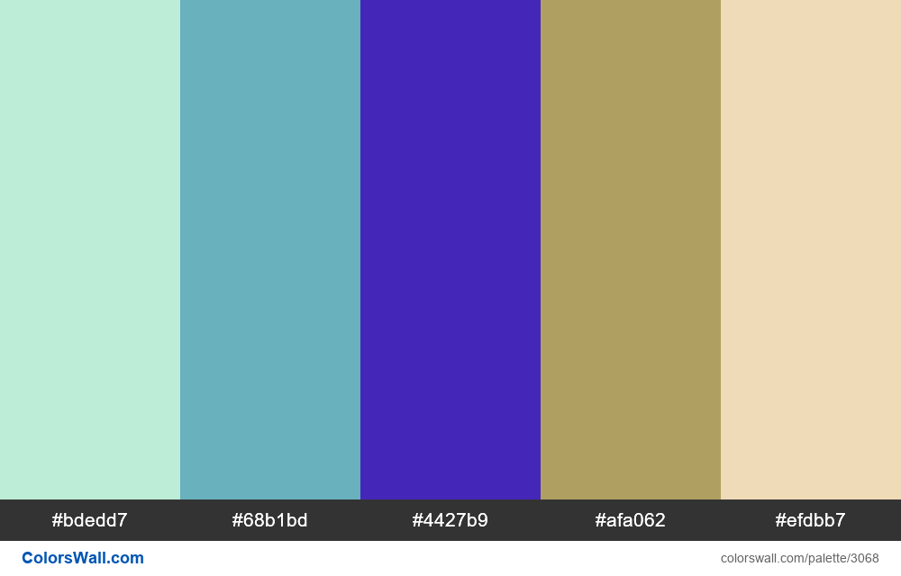 Daily colors palette #197 - #3068