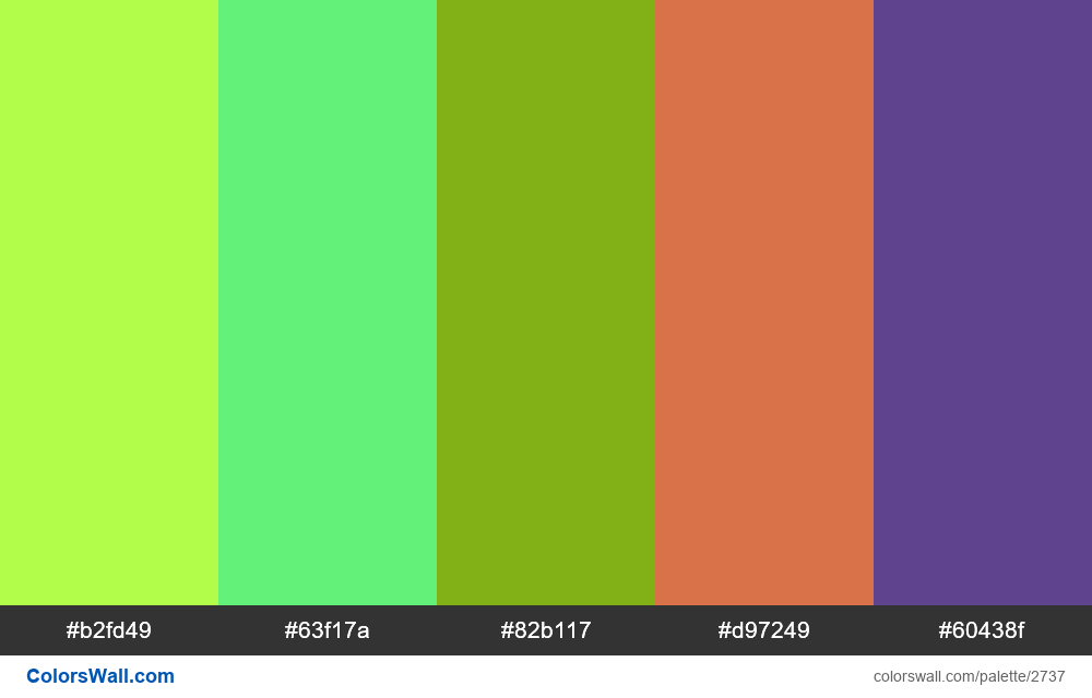 Daily colors palette #2 - #2737