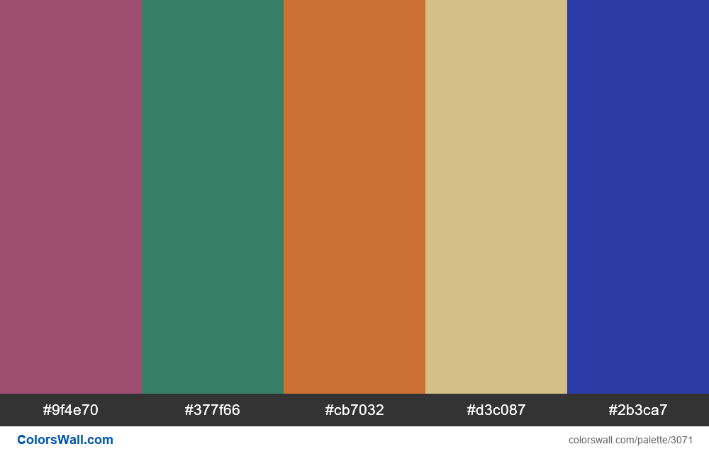 Daily colors palette #200 - #3071