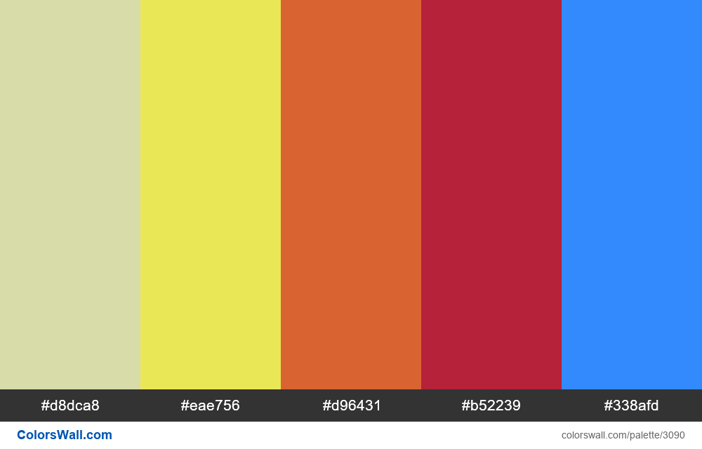Daily colors palette #212 - #3090